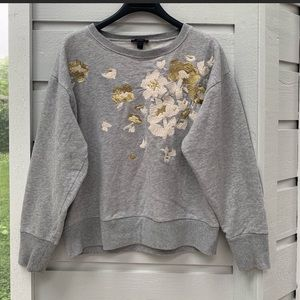 Jcrew embroidered sweatshirt